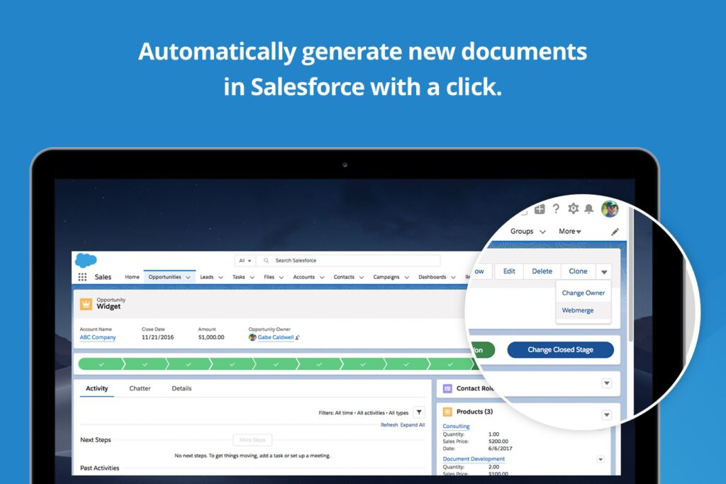Salesforce Document generation App